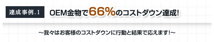 達成事例.1 OEM金物で66%のコストダウン達成!